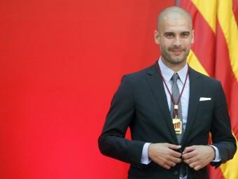 Pep Guardiola quan va rebre la Medalla d'Honor del Parlament de Catalunya