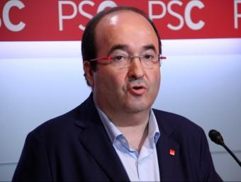 Miquel Iceta, en roda de premsa a la seu del PSC ACN