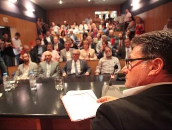 Un moment del ple de constitució en què ERC va donar suport a Virgili com a president J.F