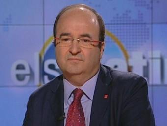 Miquel Iceta en els estudis de TV3