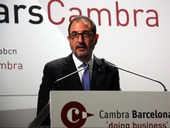 Ramon Espadaler, secretari general d'Unió, ahir, en la conferència de la Cambra ACN