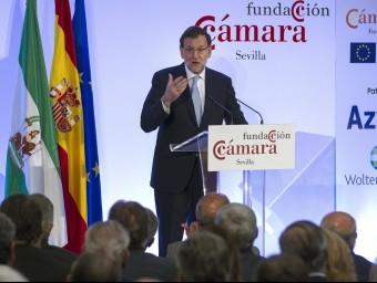 Rajoy, durant la seva intervenció aquest dimecres a Sevilla EFE