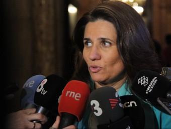 Gemma Calvet, fent declaracions al Parlament ACN