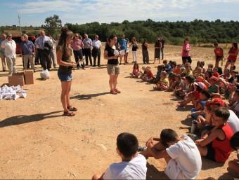 El tercer aniversari dels focs es va commemorar a Avinyonet amb un taller de prevenció d'incendis pels nens JOAN SABATER