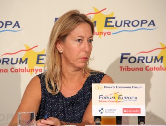 Neus Munté, vicepresidenta i portaveu del Govern, responent a les preguntes al Fórum Europa Tribuna Catalunya ACN