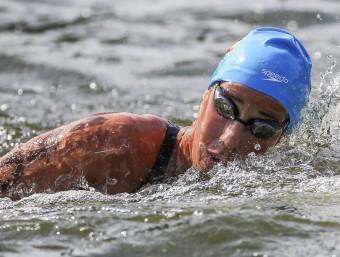 Erika Villaécija, en els 10 km aigües obertes del campionat d'Europa 2014 EFE