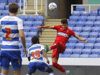 Héctor Moreno va jugar ahir mitja hora davant el Reading. FERRAN CASALS