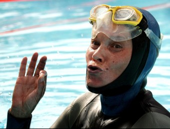 Natalia Molchánova, campiona mundial d'apnea