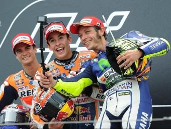 Pedrosa, Márquez i Rossi, en el podi de Sachsenring, abans de les vacances EUROPA PRESS