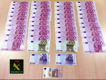 El diner comissat al conductor alemany GUÀRDIA CIVIL