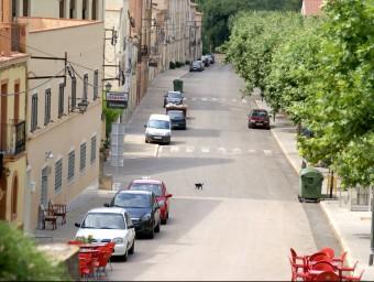 El carrer Pere el Gran de Santes Creus és un dels que es remodela en el projecte J.L.E./EPN
