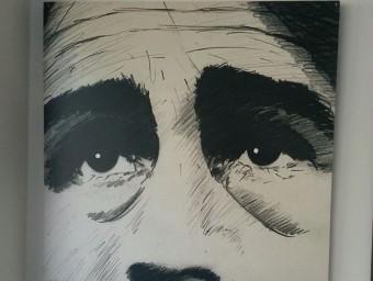 Una de les peces d'Antoni Miró que s'han inclòs en l'exposició. EPA