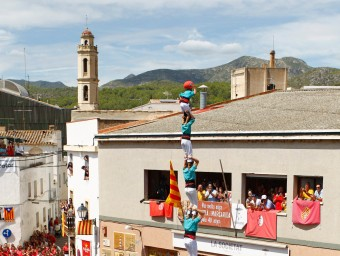 El pilar de 8 dels Castellers de Vilafranca JOSÉ CARLOS LEÓN