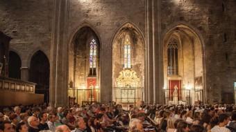 Una imatge de l'interior de la catedral de Girona durant un concert, al mes de juny. JONAS FORCHINI