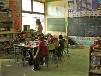 Una classe de l'escola de Sant Miquel , en una imatge d'arxiu. R. E