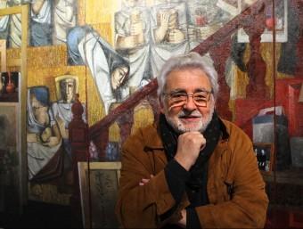 Àlvar Suñol, quan va presentar una antològica a la Casa de Cultura de Girona, el gener del 2014 JORDI RIIBOT / ICONNA