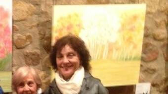 Quimeta Serra en una exposició l'any passat a Sant Feliu de Guíxols. EL PUNT AVUI