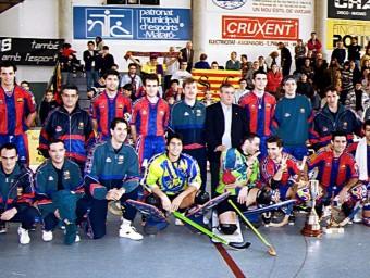 L'equip del Barça que va guanyar la lliga catalana la temporada 1996/97 ALBERT CAMPS