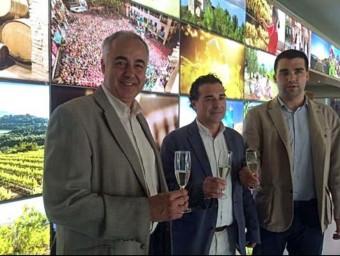 D'esquerra a dreta, Santi Soler, Francesc Olivella i Sergi Vallès. TAEMPUS