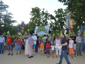 Assaig de la Via Lliure de l'11-S als Camps Elisis de Lleida ROSA PEROY
