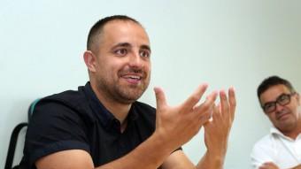 Fabián Mohedano, durant l'entrevista a la seu d'El Punt Avui JUANMA RAMOS