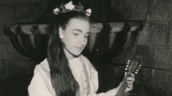 L'actriu Manolita Iglesias, en el paper de Guendolina. EL PUNT AVUI