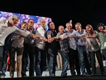 Els candidats de Junts pel Sí JUANMA RAMOS