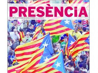 La portada del número especial amb què Presència commemora diumenge la Diada d'enguany.