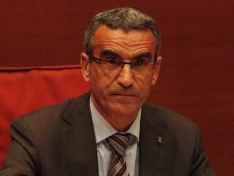 Jaume Gilabert és l'alcalde de Montgai ARXIU