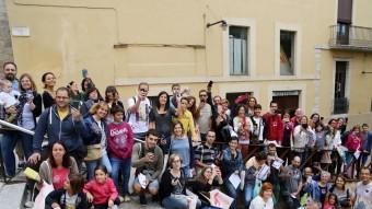 Els participants a la gimcana. MANEL LLADÓ