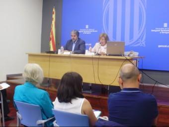 M.Àngels Gonzàlez, va presentar les novetats del curs escolar, acompanyada del delegat del Govern, Quim Nin INFOCAMP