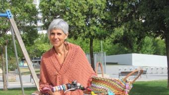 Núria Terés, amb la seva inseparable bicicleta D.V