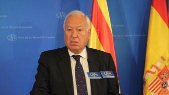 José Manuel García Margallo, intervenint al Fórum Nueva Economia ACN