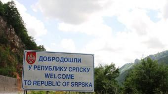 Cartell d'entrada a la republica Srpska, l'entitat sèrbia de Bòsnia que també vol la independència ARXIU