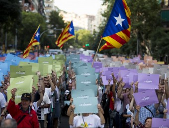 Assaig de la Via Lliure el passat 18 d'agost a Gràcia ALBERT SALAMÉ