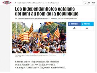 La notícia de la Via Lliure, a 'Libération'