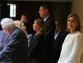 LLanos de Luna, Camacho, Albiol i Levy ahir a l'acte de la delegació del govern espanyol a Catalunya LLUÍS SERRAT