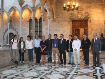Els organitzadors de la Via Lliure, aquest divendres al Palau de la Generalitat ACN