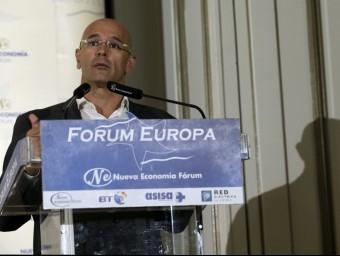 El cap de llista de Junts pel Sí, Raül Romeva, a Madrid EFE