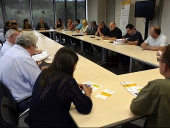 Joan Ubach, alcalde de Tremp, va presidir la reunió en què es va crear l'Associació pel Geoparc de la Conca M.LL./ ACN