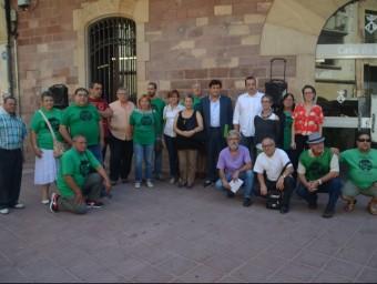 Integrants de la coordinadora, durant la presentació la setmana passada EL PUNT AVUI