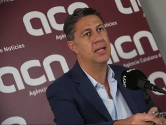 Xavier García Albiol, a la seu de l'Agència Catalana de Notícies ACN