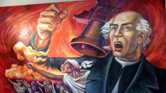 """Representació del """"Grito"""" de Miguel Hidalgo, que va obrir la revolta ARXIU"""