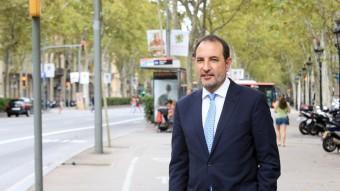 Ramon Espadaler, en una pausa dels actes de campanya ANDREU PUIG