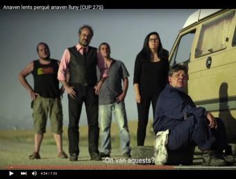 Una imatge de l'anunci electoral 'Anaven lents perquè anaven lluny', que ahir va presentar la CUP EL PUNT AVUI