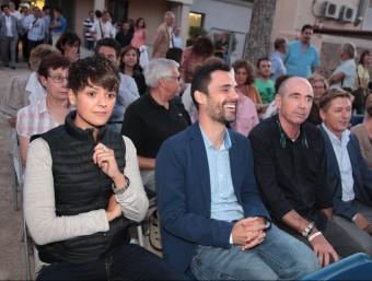Figueres, Torrent i Llach durant l'acte d'ahir a Can Trinxeria, a Cassà de la Selva J. SABATER
