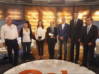 Els candidats van protagonitzar ahir a la nit el primer gran debat televisiu a 8 TV ORIOL DURAN