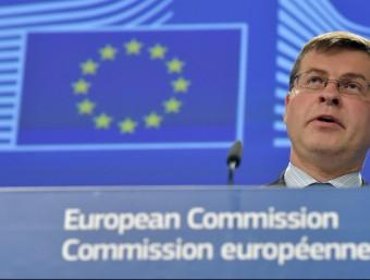 El vicepresident de la CE per l'Euro i el Diàleg Social, el letó Valdis Dombrovskis, en una imatge d'arxiu REUTERS