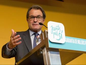 Artur Mas, en un acte de Junts pel Sí ALBERT SALAMÉ