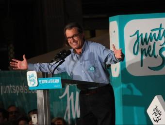 resident de la Generalitat, Artur Mas, en un míting de Junts pel Sí a Manresa ACN